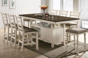Tasnim Dining Collection - Antique White Finish