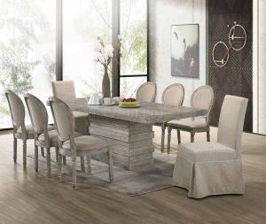 Faustine Dining Collection - Salvaged Light Oak Finish