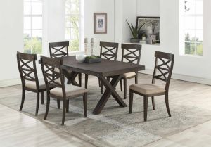 Eureka 7-9 Pc Dining Collection - Antique Brown