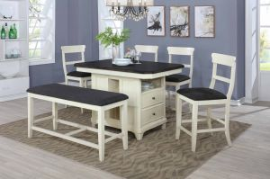 Juno 6 Pc Dining Collection - Extension Leaf