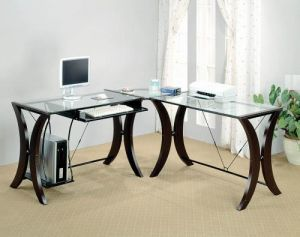 Monterey Contemporary Cappuccino Computer Desk Set