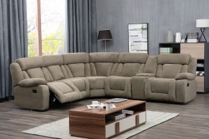 Burnham Sectional - Tan or Dark Brown
