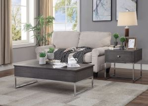 Iban Coffee Table w/Lift Top - Gray Oak Finish