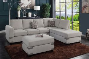 Bennigan 3 Pc Reversible Chenille Sectional - 3 Color Choices