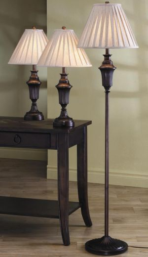 3 Pc Lighting Set - Dark Brown