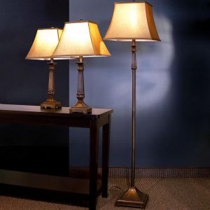 3 Pc Lighting Set -  Brown