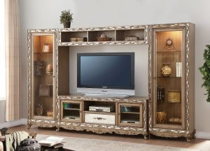Orianne Entertainment Center - Antique Gold Finish