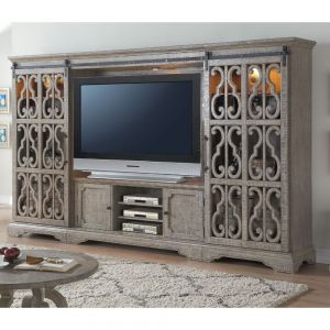 Artesia Entertainment Center - Salvaged Natural Finish
