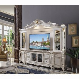 Picardy Entertainment Center - Antique Pearl Finish