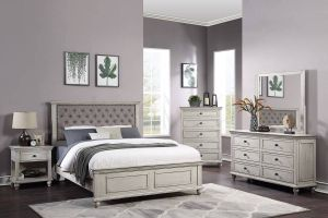 Bravo Bedroom Collection ~ Button Tufted Headboard