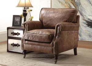 Dundee Accent Chair - Top Grain Leather