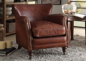 Leeds Accent Chair - Top Grain Leather