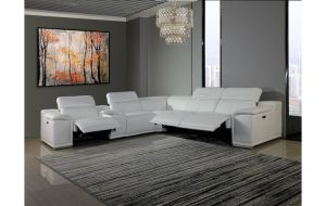 Genoa 3-Power Reclining 6 Pc Sectional w/1 Console - 3 Colors