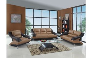 Armani 2 Tone Genuine Leather Sofa Collection