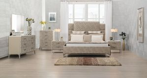 Kordal Bedroom Collection - Vintage Beige PU