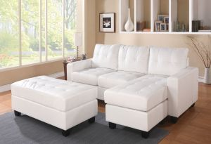 Lyssa Sectional - White or Black Colors