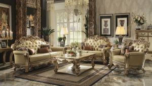 Vendome Sofa Collection - Gold Patina Upholstery