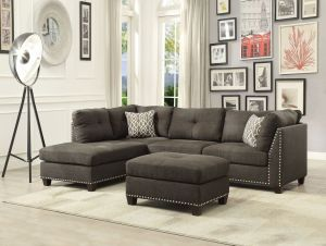 Laurissa 3 Pc Sectional - 3 Color Choices