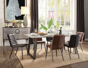 Kaylia Dining Collection - 3 Leather Chair Choices