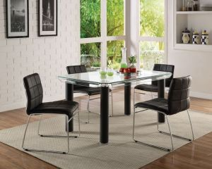 Gordie Dining Collection - Black or White Finish