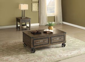 Kalias Occasional Collection - Rustic Finish