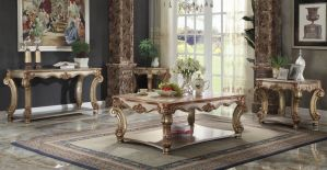 Vendome Occasional Tables - Gold Patina Finish