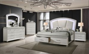 Adele Pearl White 4 Pc Bedroom Collection
