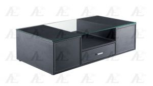 Black Coffee Table - Glass Top