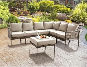 Aleisha Patio Sectional - Faux Wicker