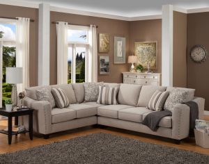 Angelina 2 Pc Sectional - Sand or Cappuccino