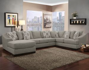 Atlas 3 Pc Chenille Sectional - 4 Color Choices