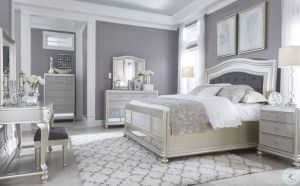 Coralayne Silver 4 Pc Bedroom Collection - Glitz & Glam