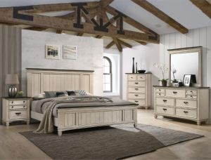 Sawyer 4 Pc Queen-King Bedroom Collection - Rustic Finish