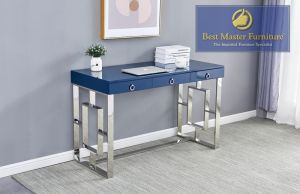 Computer Desk Stainless Steel Lacquer Top - 3 Colors