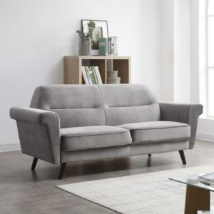 Baron Mid-Century Sofa - Dark Grey or Green
