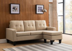 Tufted Back Sectional w/Reversible Chaise - 4 Color Choices