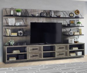 Billboard Entertainment Wall - 15 Shelves