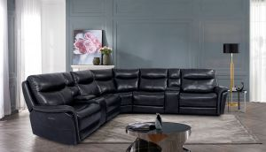Braylee Power Sectional - Top Grain Leather