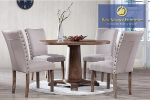 Cary 5 Pc Transitional Dining Collection - Antique Natural Oak