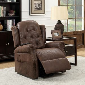 Saco Power Recliner - Nailhead Trim