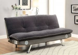 Gallagher Futon Sofa w/Bluetooth Speakers - Gray or Dark Brown