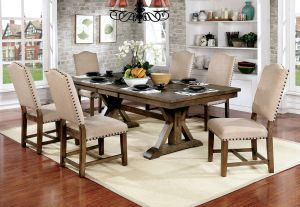 Julia 7-9 Pc Rustic Dining Collection - Expandable Leaf
