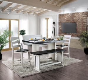 Nekoma Rustic Style Dining Collection - 2 Tone Finish