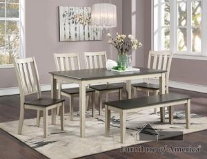 Frances 6 Pc Dining Collection - Two Tone Design