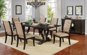 Patience Dining Collection - Dark Walnut Finish