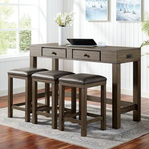 Gualde 4 Pc Dining Collection - Space Efficient