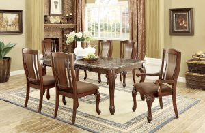 Johannesburg Dining Collection - Faux Marble Top