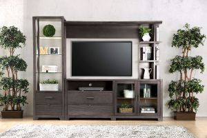 Tienen Entertainment Center - Gray Finish