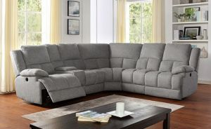 Lynette Gray Sectional - 3 Power Recliners
