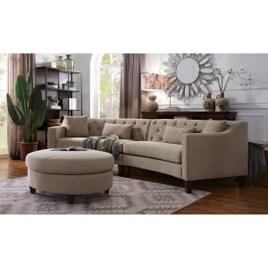 Sarin Chenille Sectional - Taupe or Warm Gray